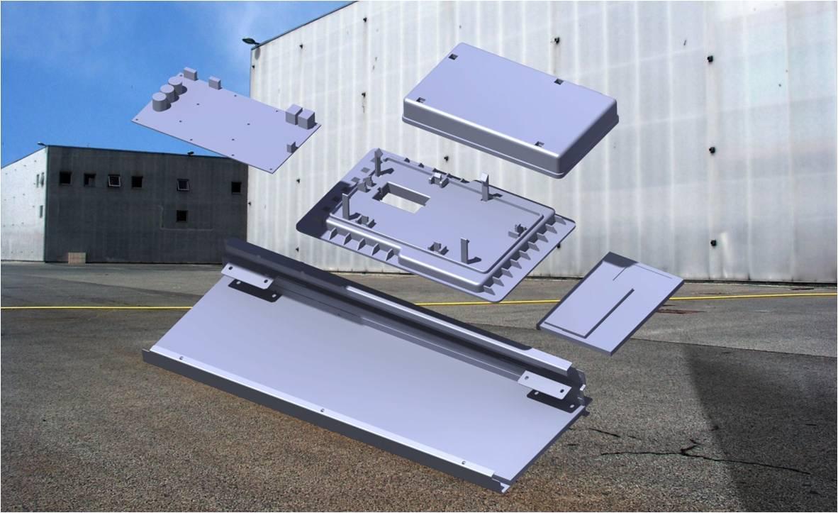 Plastboks for elektronik